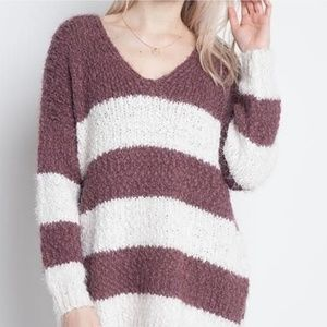 NWT Altar'd State Eyelash Striped Sweater S/M